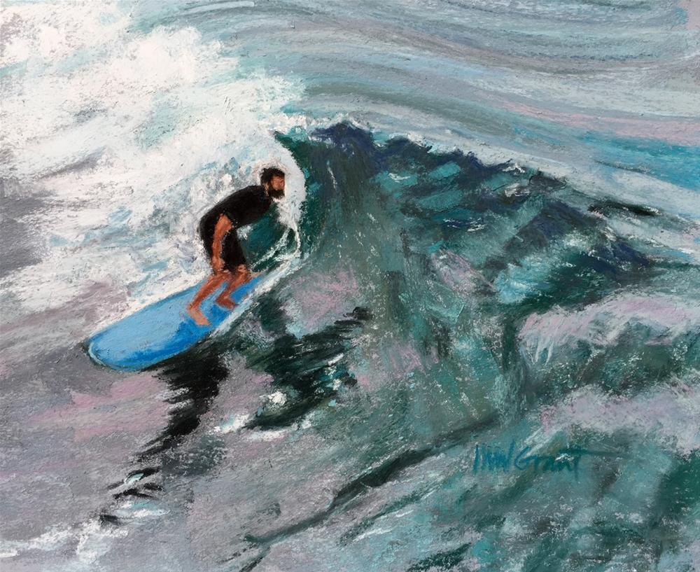 """Aqua"" original fine art by Michelle Wells Grant"
