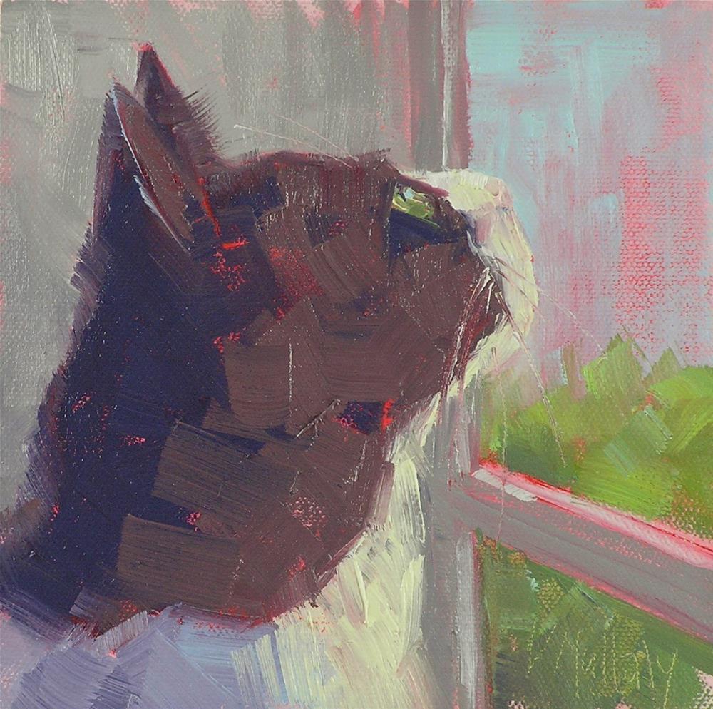 """Max's World"" original fine art by Diane DuBois Mullaly"