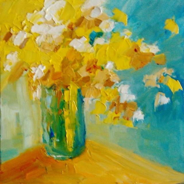 """Boquet of happiness"" original fine art by Astrid Buchhammer"