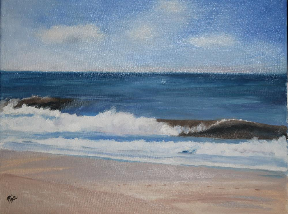 """""""Waiting for Summer"""" original fine art by Maria Reed"""