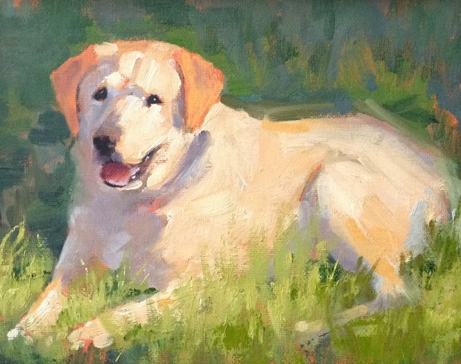 """""""Hanna"""" original fine art by Deborah Newman"""