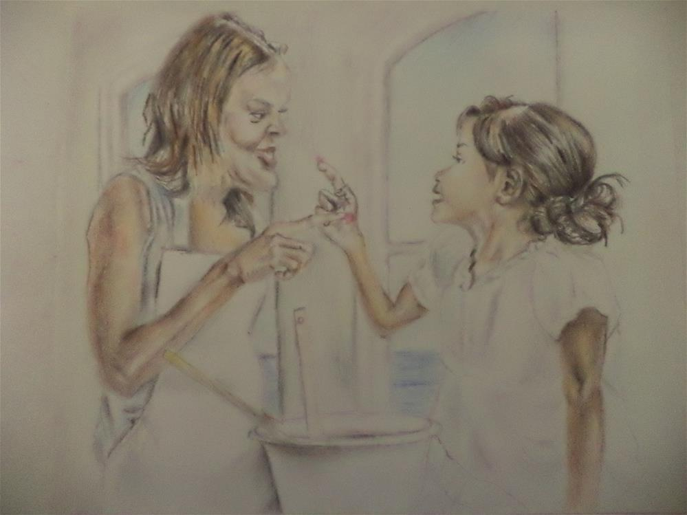 """Frosting fight"" original fine art by tara stephanos"