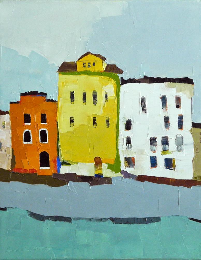 """Bright Trio"" original fine art by Donna Walker"