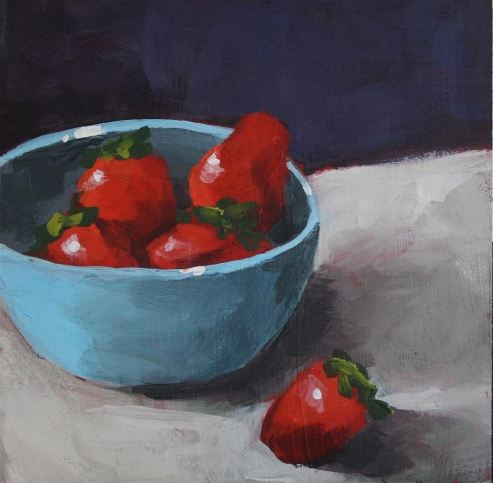 """Strawberry Bowl"" original fine art by Shannon Bauer"