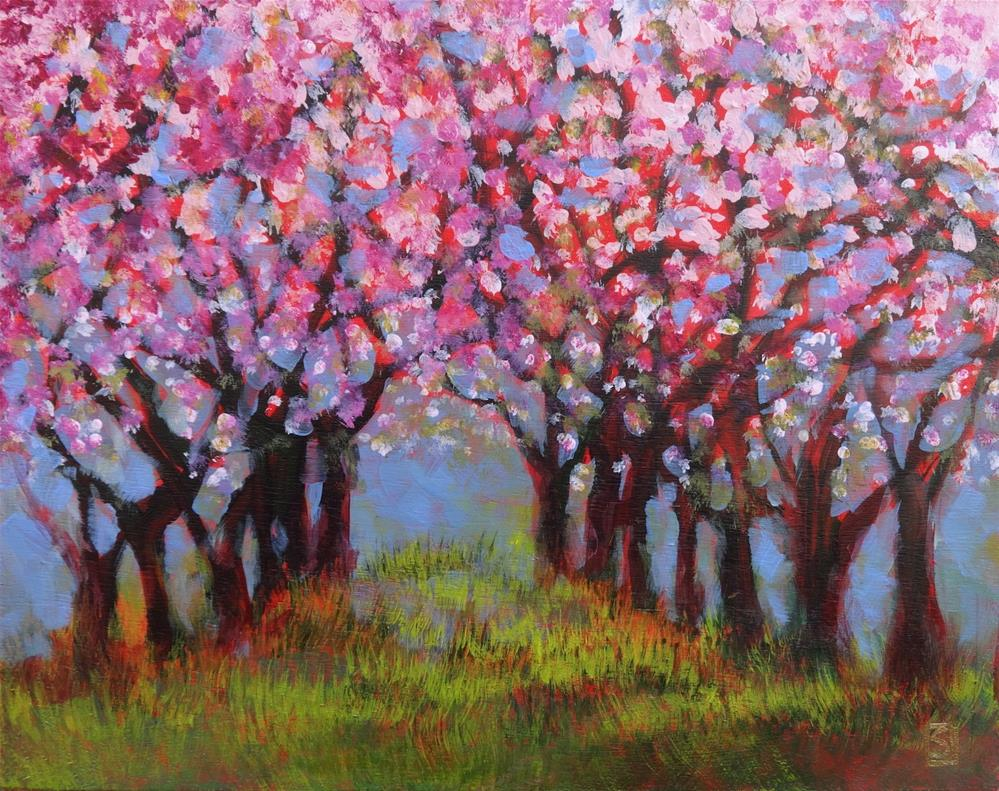 """""""6045 - The Old Cherry Orchard"""" original fine art by Sea Dean"""