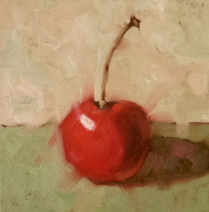 """Cherry Pi"" original fine art by Cindy Haase"