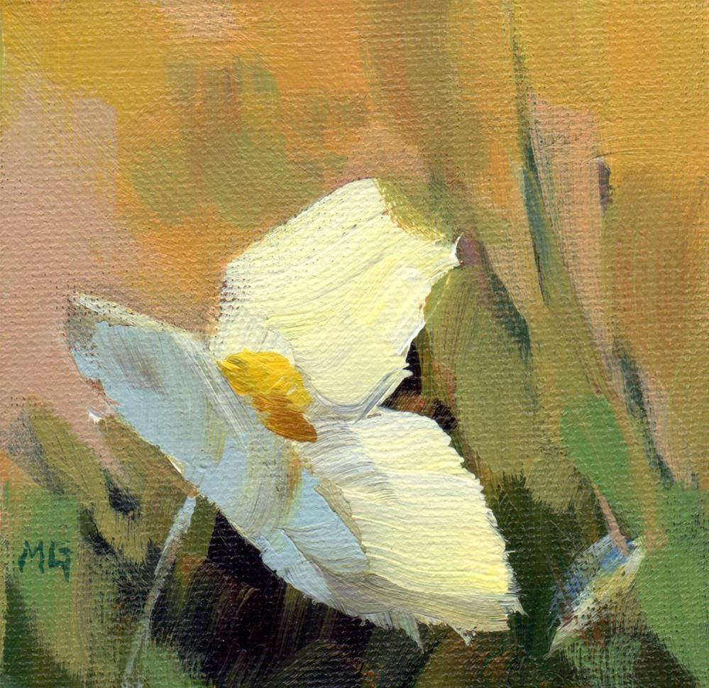 """Solitary Flower"" original fine art by Melissa Gannon"