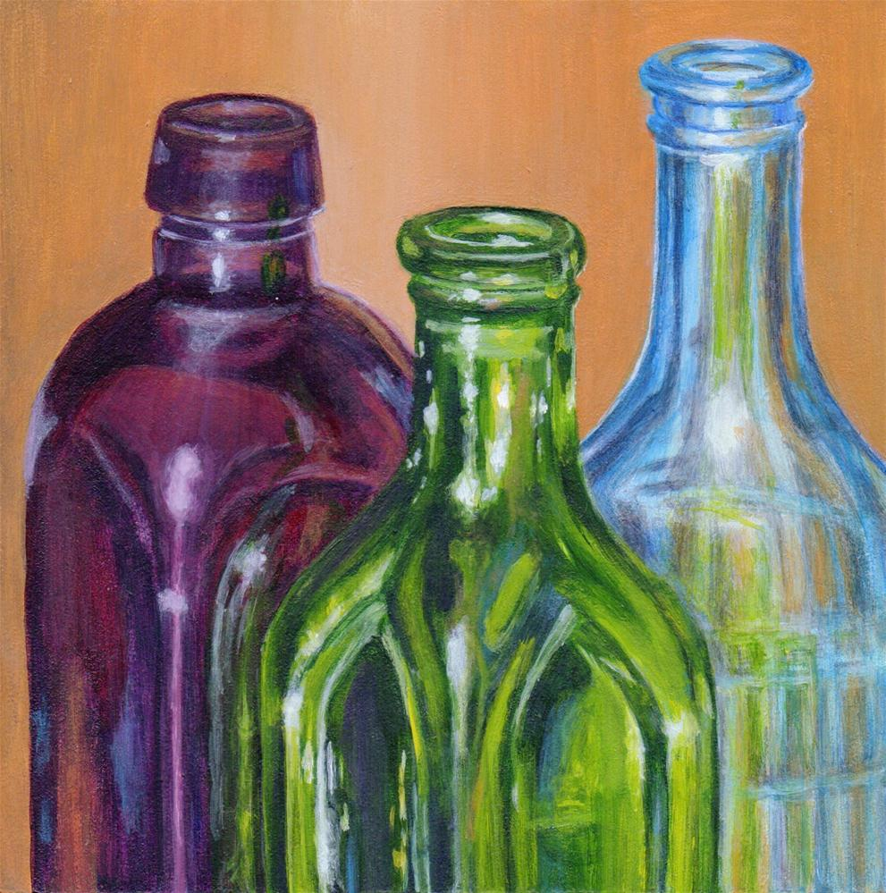 """Bottled Up"" original fine art by Debbie Shirley"