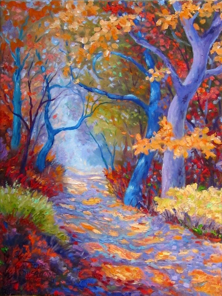 """Autumn Woods"" original fine art by Patricia Musgrave"