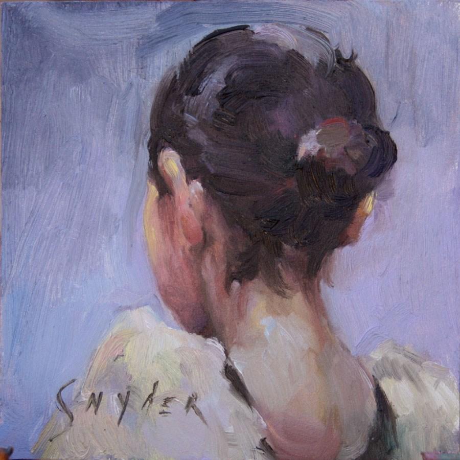 """""""Ballet Bun"""" original fine art by Julie Snyder"""