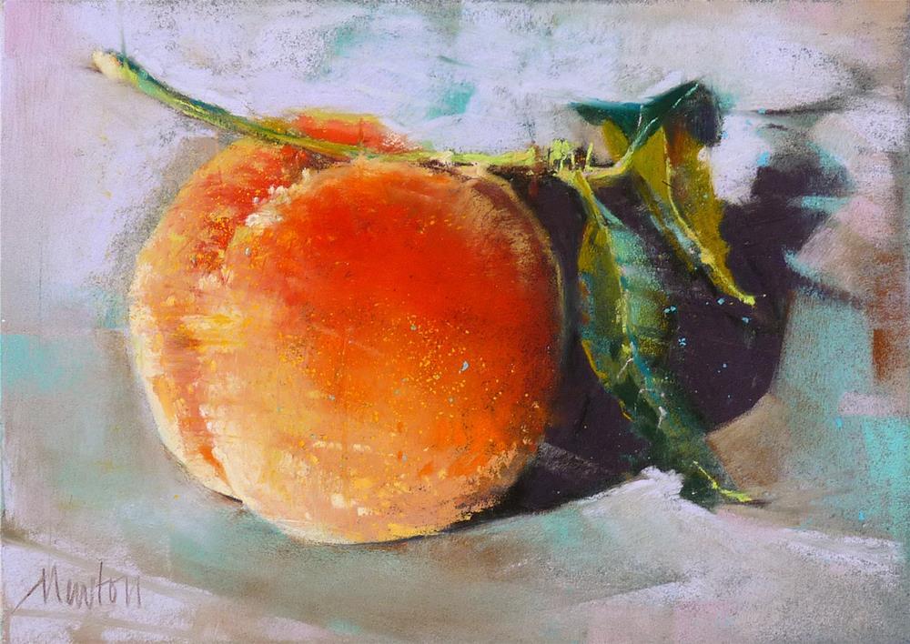 """""""Frost Peach"""" original fine art by Barbara Benedetti Newton"""