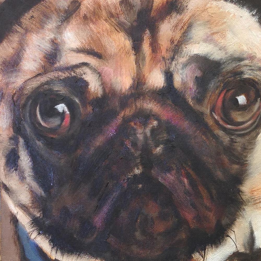 """Doggie"" original fine art by Linda Lowery"