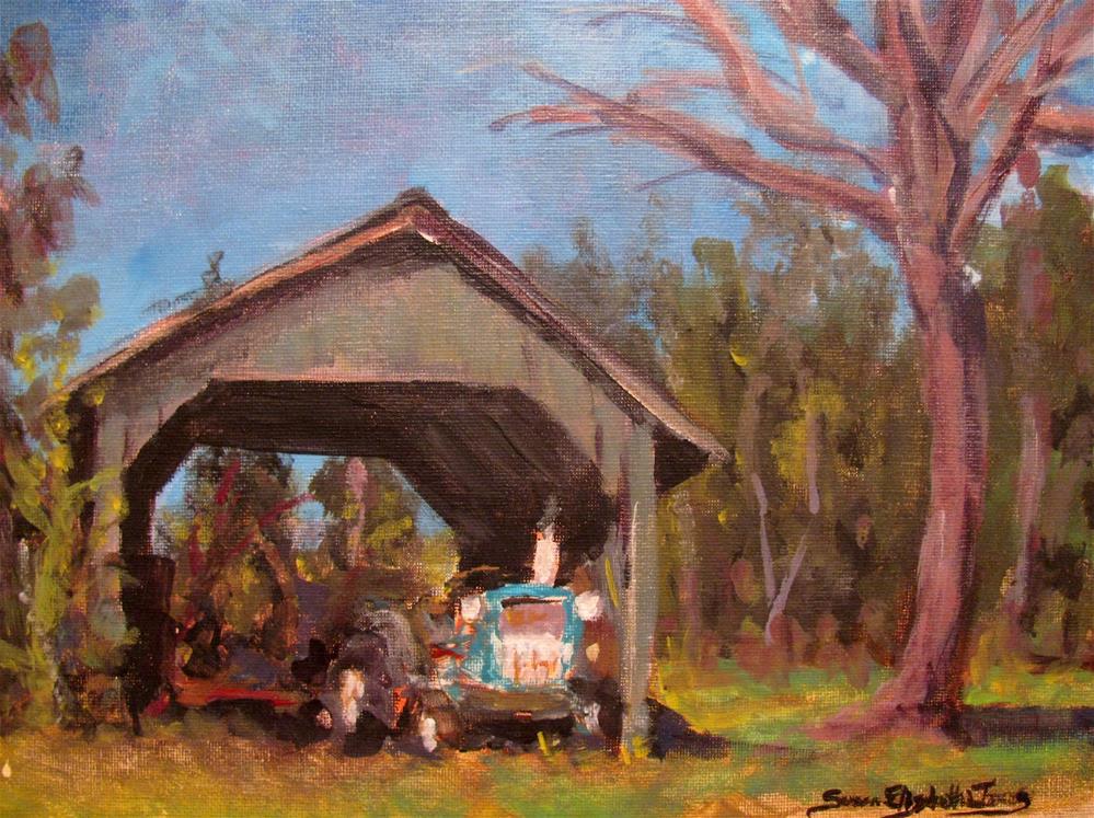 """Downtown Spring Hill"" original fine art by Susan Elizabeth Jones"