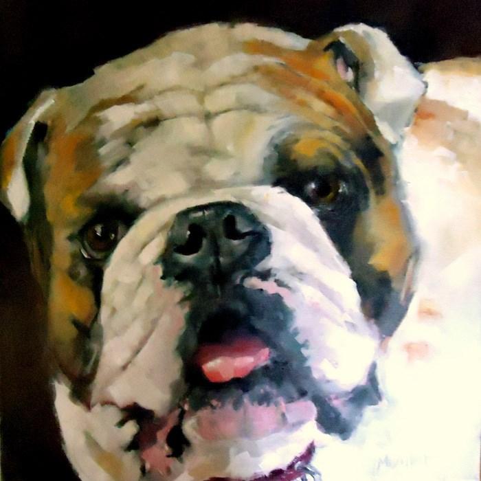 """George"" original fine art by Laurie Mueller"
