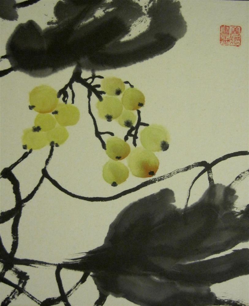 """grape I"" original fine art by Sunkyung Choi"