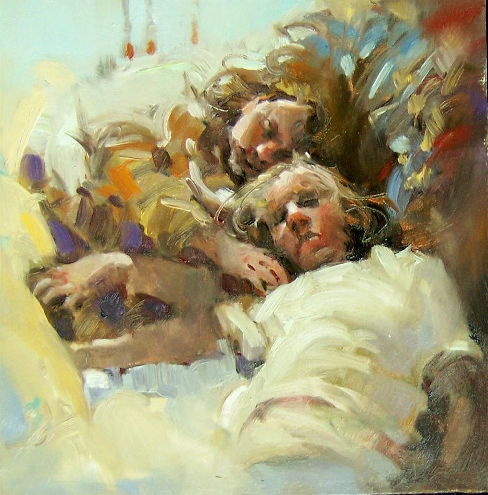 """Kids Napping"" original fine art by Kim Roberti"