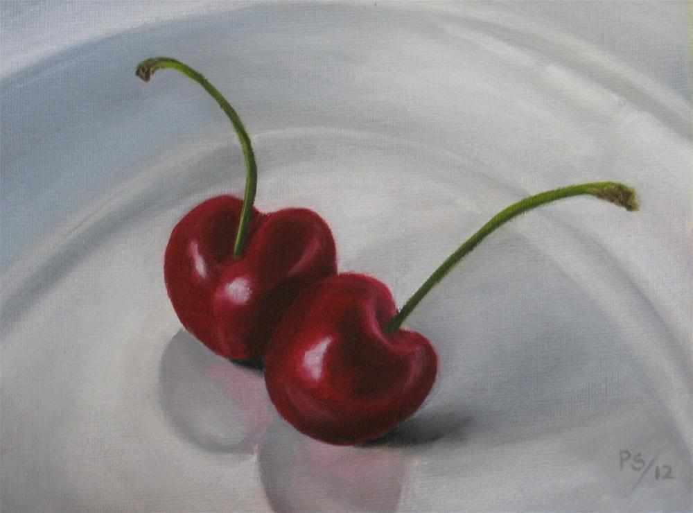 """Two Cherries"" original fine art by Pera Schillings"