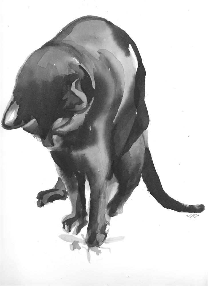 """Daily Cat 58"" original fine art by Jean Krueger"