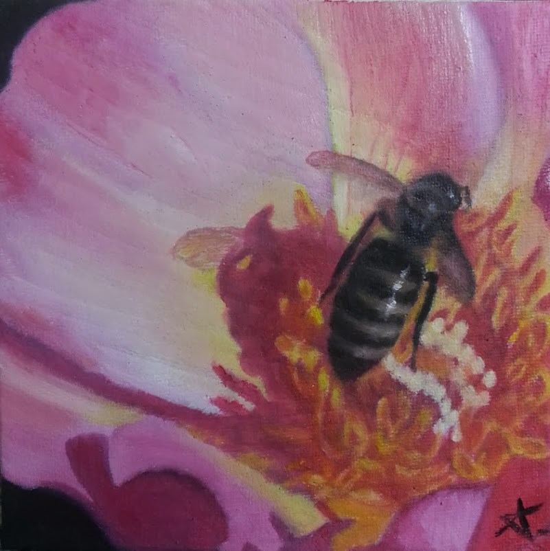 """Beezing"" original fine art by Konstantia Karletsa"