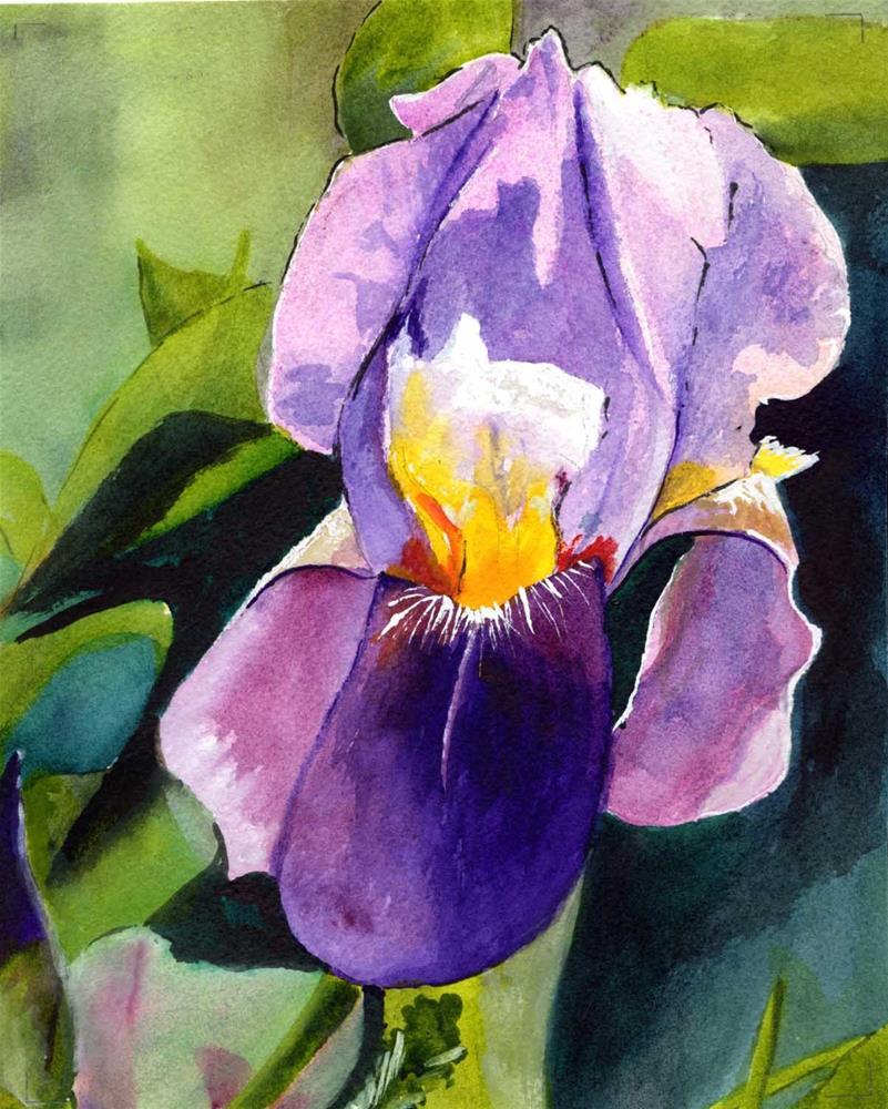 """Purple Iris"" original fine art by Bunny Griffeth"