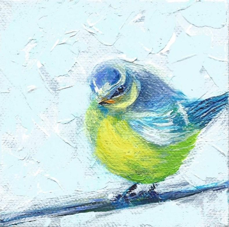 """5010 - Baby Blue I - Deep Wrap Canvas"" original fine art by Sea Dean"