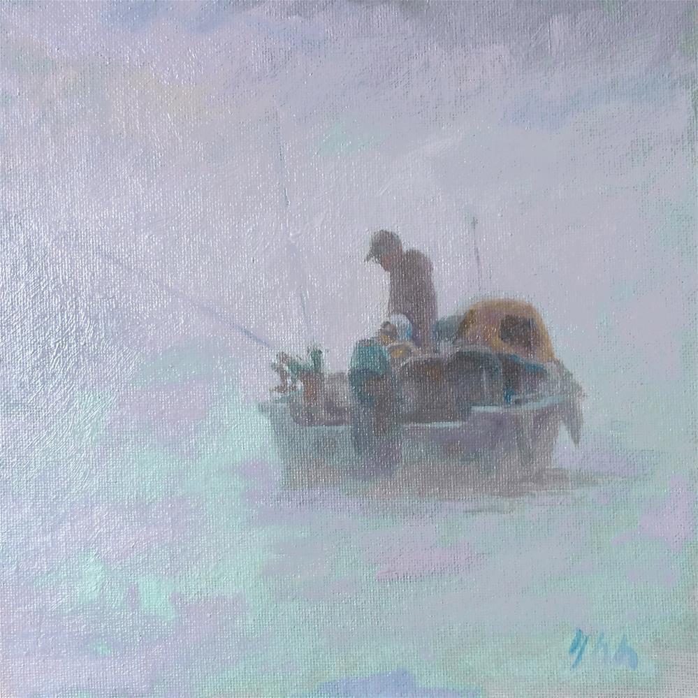 """""""Fog"""" original fine art by Yuehua He"""