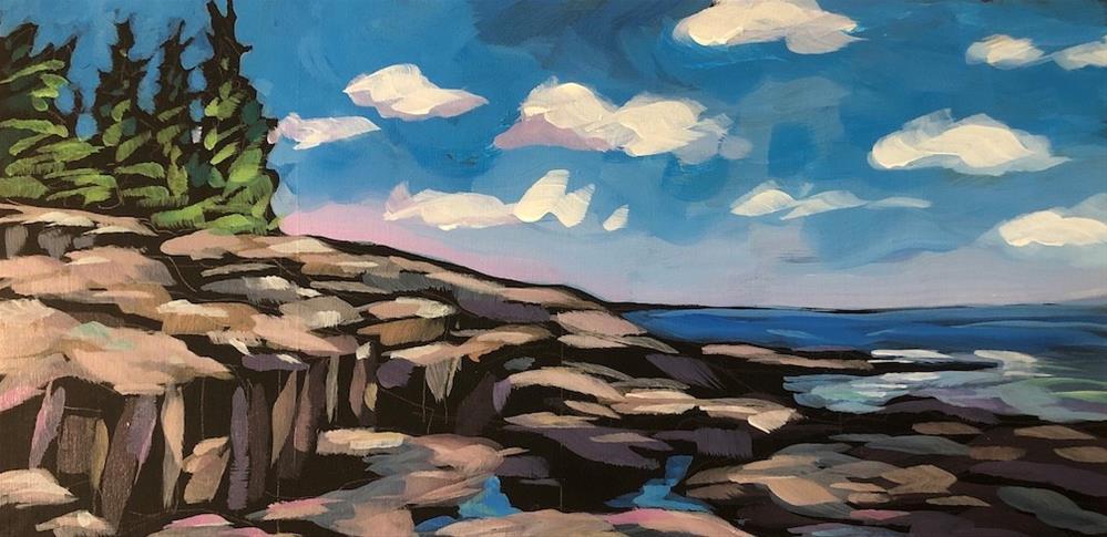 """July On The Rocks"" original fine art by Kat Corrigan"