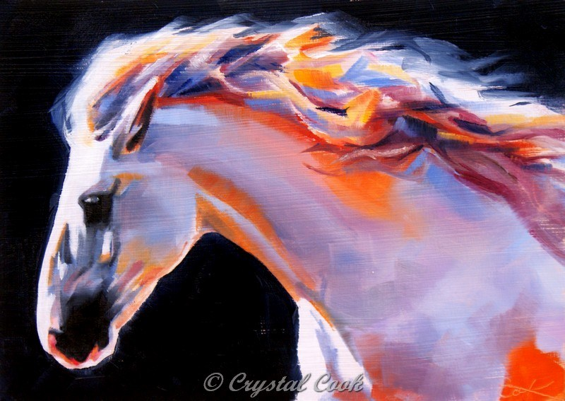 """""""Beauty, Strength, and Grace"""" original fine art by Crystal Cook"""