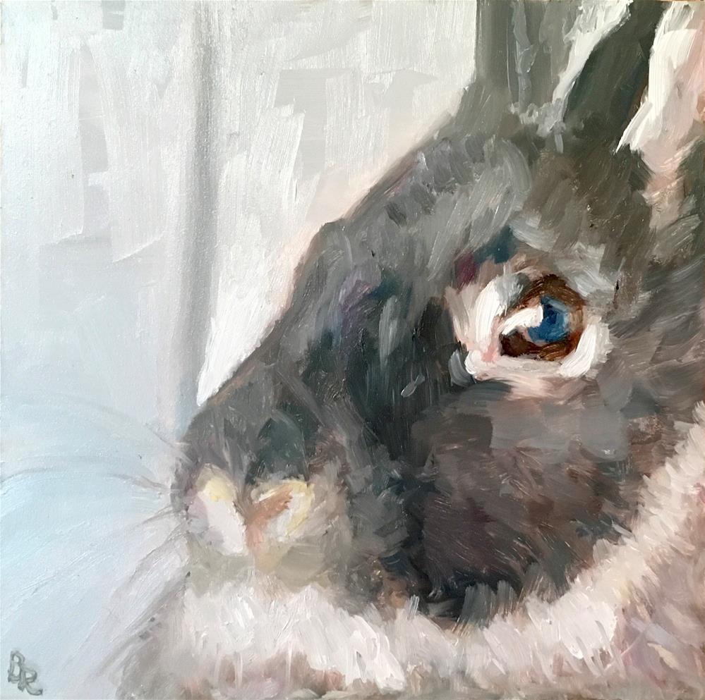 """Morning, Bun!"" original fine art by Barbara Ramp"