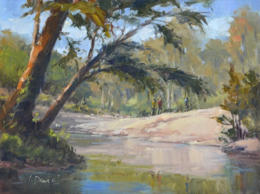 """Spring Water Reflections"" original fine art by Laurel Daniel"