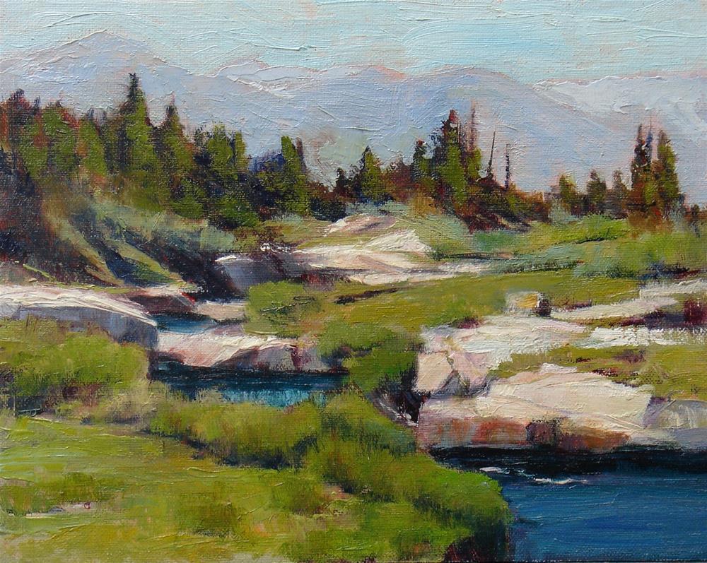 """""""Bear Creek"""" original fine art by Susan Hammer"""