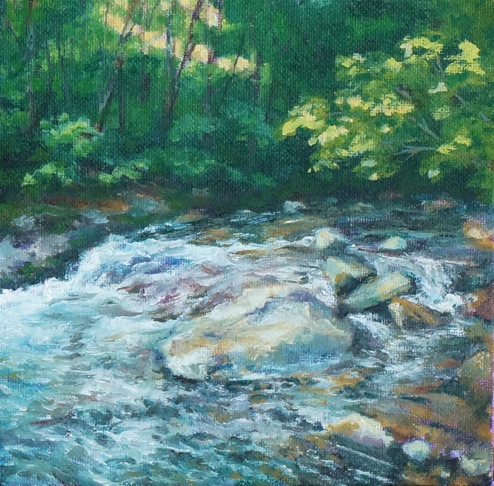 """Following The Flow ."" original fine art by Maria Levandowski"