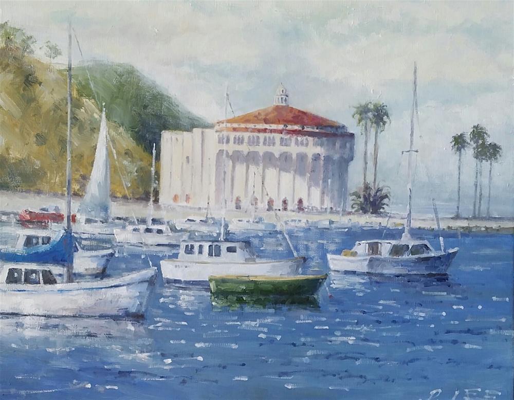 """Catalina Island"" original fine art by Peter Lee"