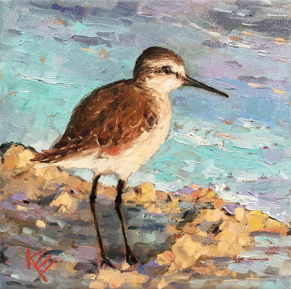 """Seaside Meditation"" original fine art by Krista Eaton"