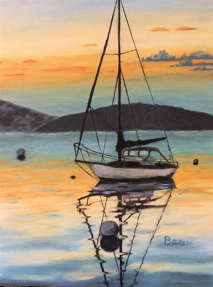 """Sunset Harbor"" original fine art by Beau Crump"