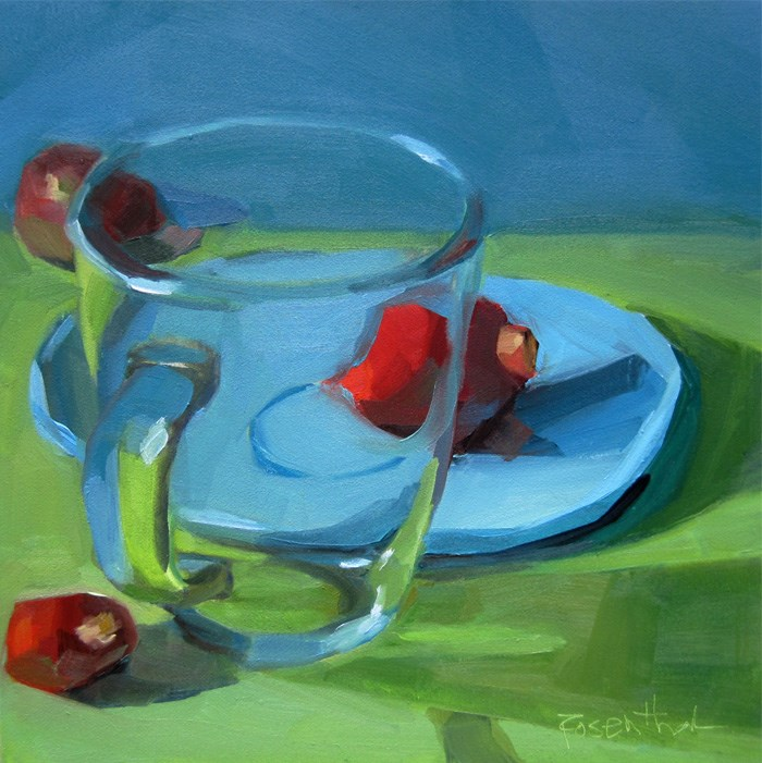 """Clear Glass Mug (A New Setting)"" original fine art by Robin Rosenthal"