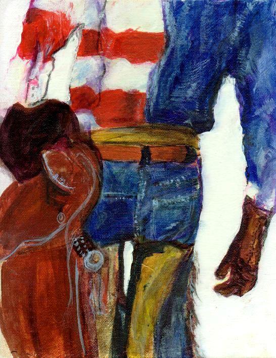 """""""Texas Patriot"""" original fine art by Barbara Lemley"""