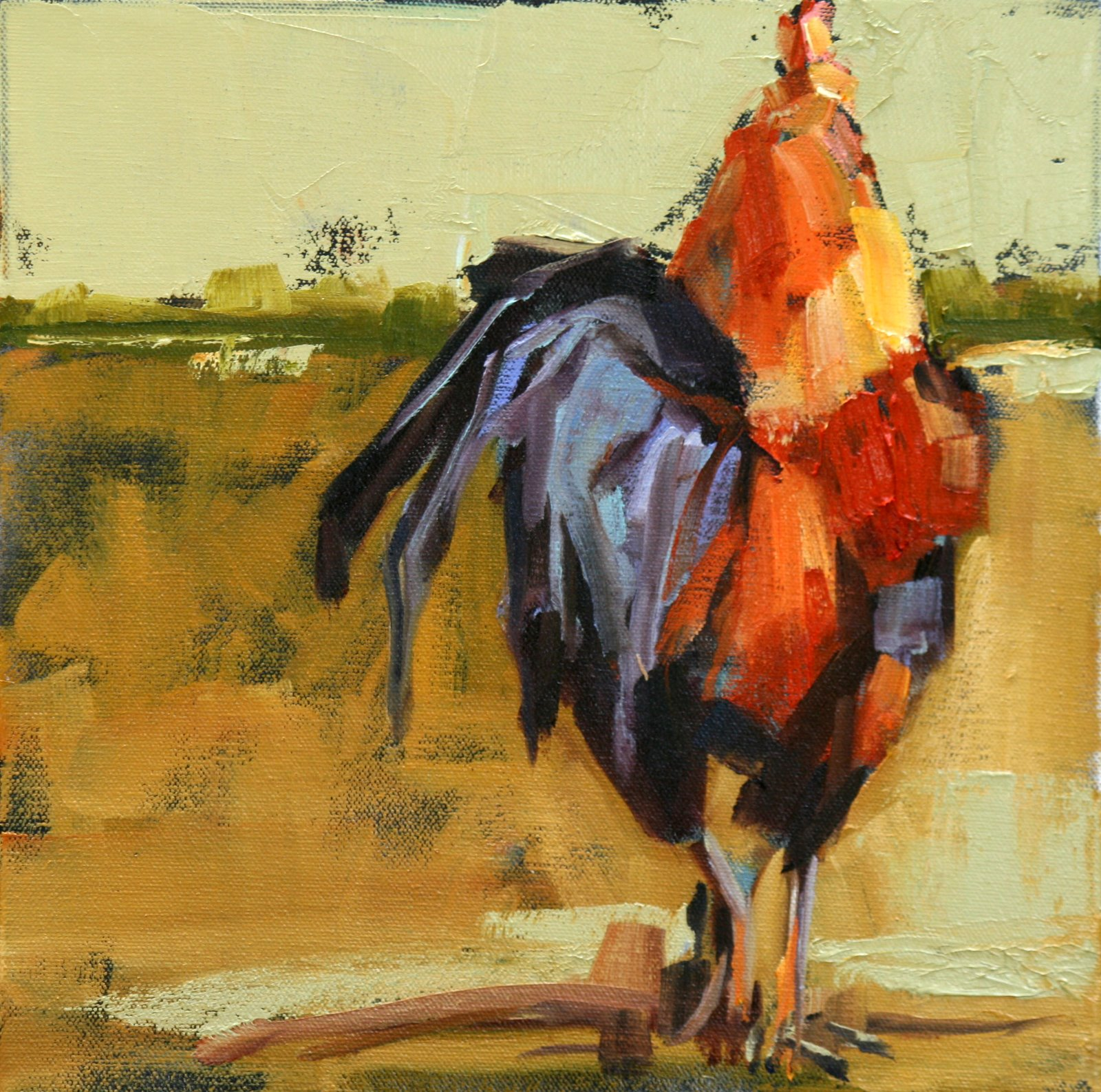 """""""in a rush"""" original fine art by Carol Carmichael"""