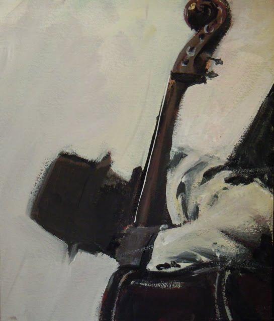 """Jazz Man  jazzcanvasonline.com"" original fine art by Robin Weiss"