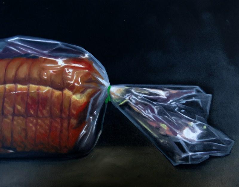 """Sliced Bread Commission"" original fine art by Lauren Pretorius"