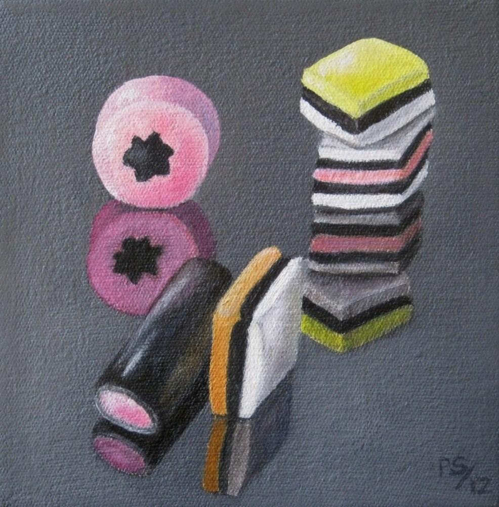 """""""Liquorice Allsorts I"""" original fine art by Pera Schillings"""