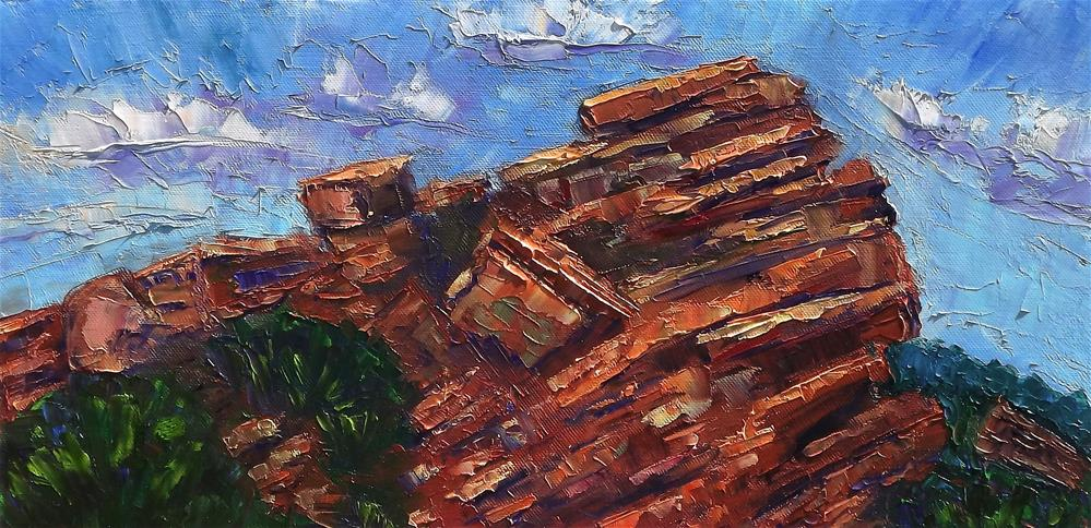 """Red Rocks monolithic "" original fine art by Linda mooney"