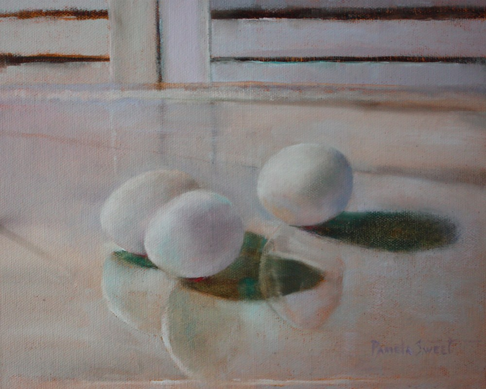 """White on White"" original fine art by Pamela Sweet"