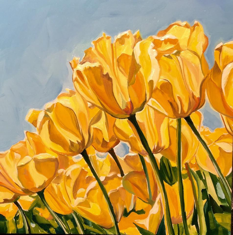 """The Sunbathers"" original fine art by Lauren Kuhn"