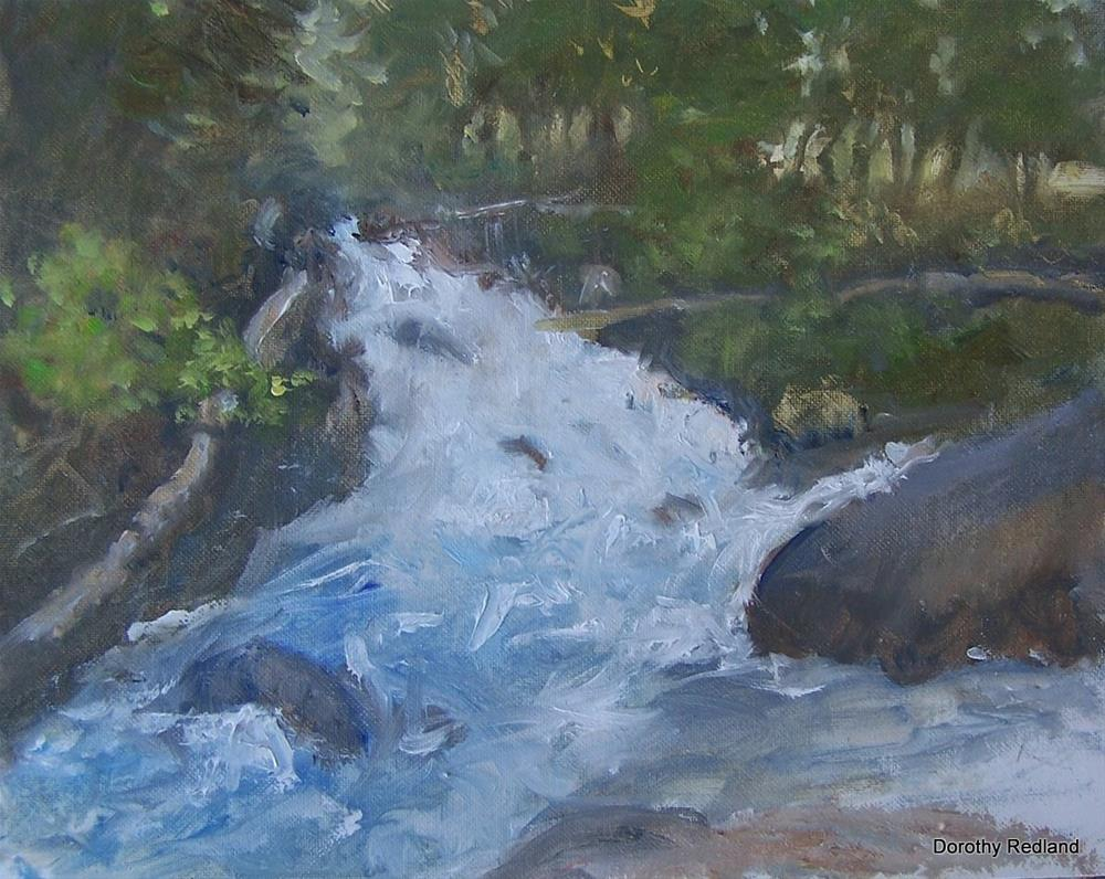 """""""Crazy women creek i"""" original fine art by Dorothy Redland"""
