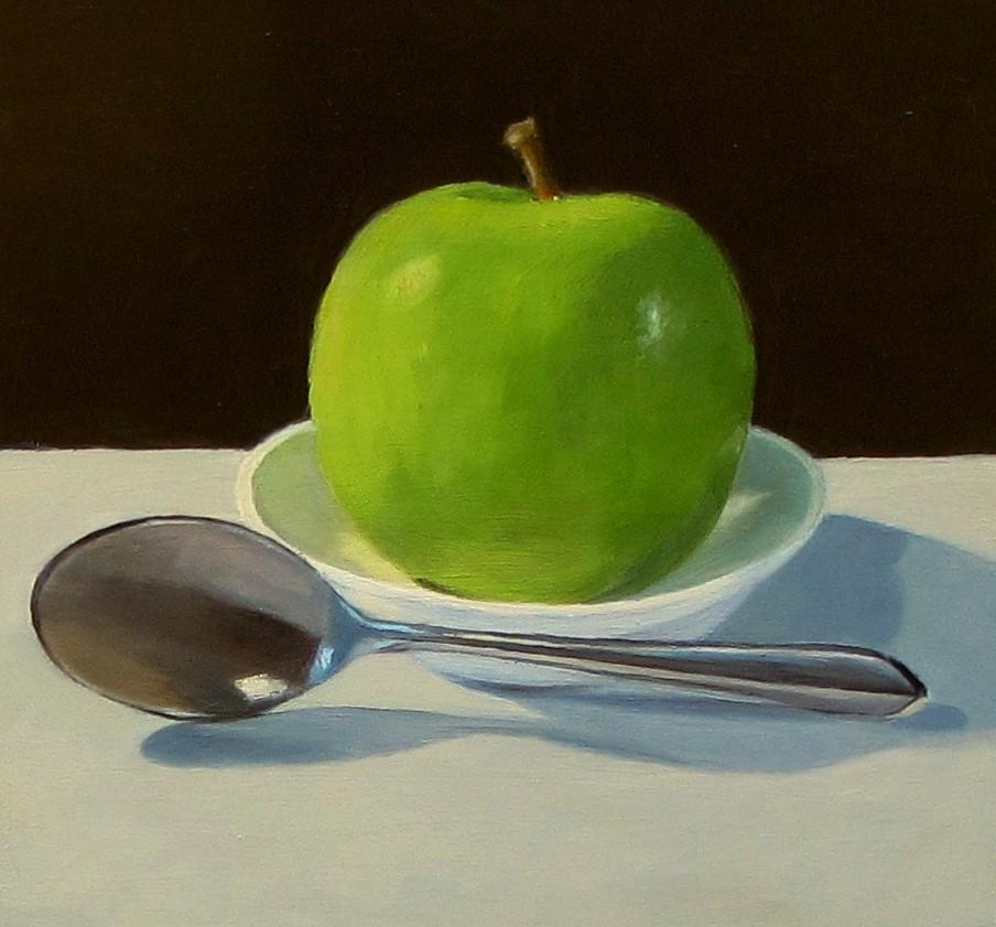 """""""An Apple a Day"""" original fine art by Karen Johnston"""