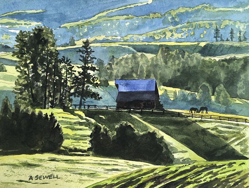 """""""Country Morning Glow"""" original fine art by Andy Sewell"""