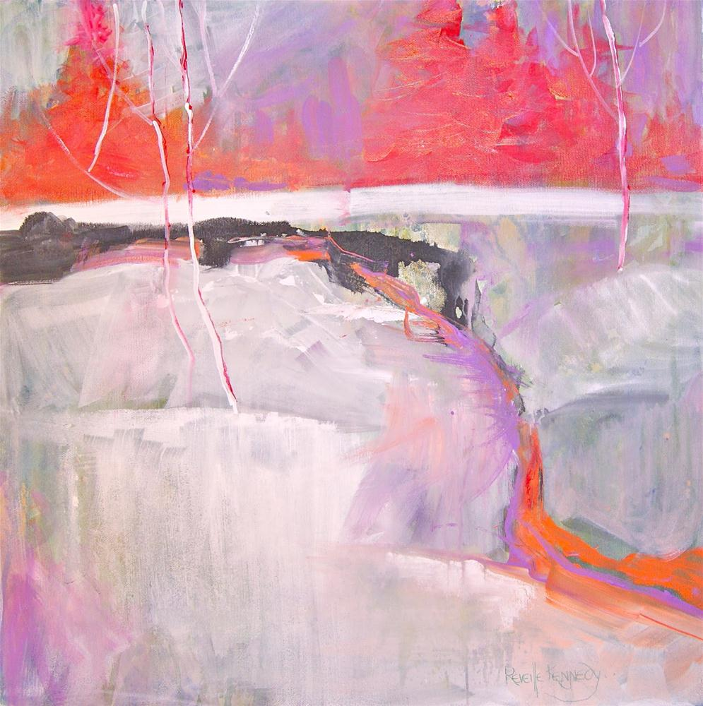 """""""Frozen Red Trees and Snow"""" original fine art by Reveille Kennedy"""