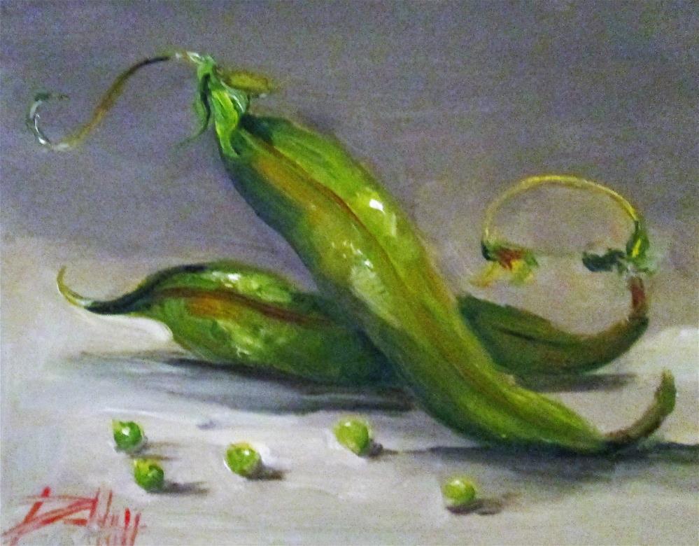 """""""Green Bean"""" original fine art by Delilah Smith"""