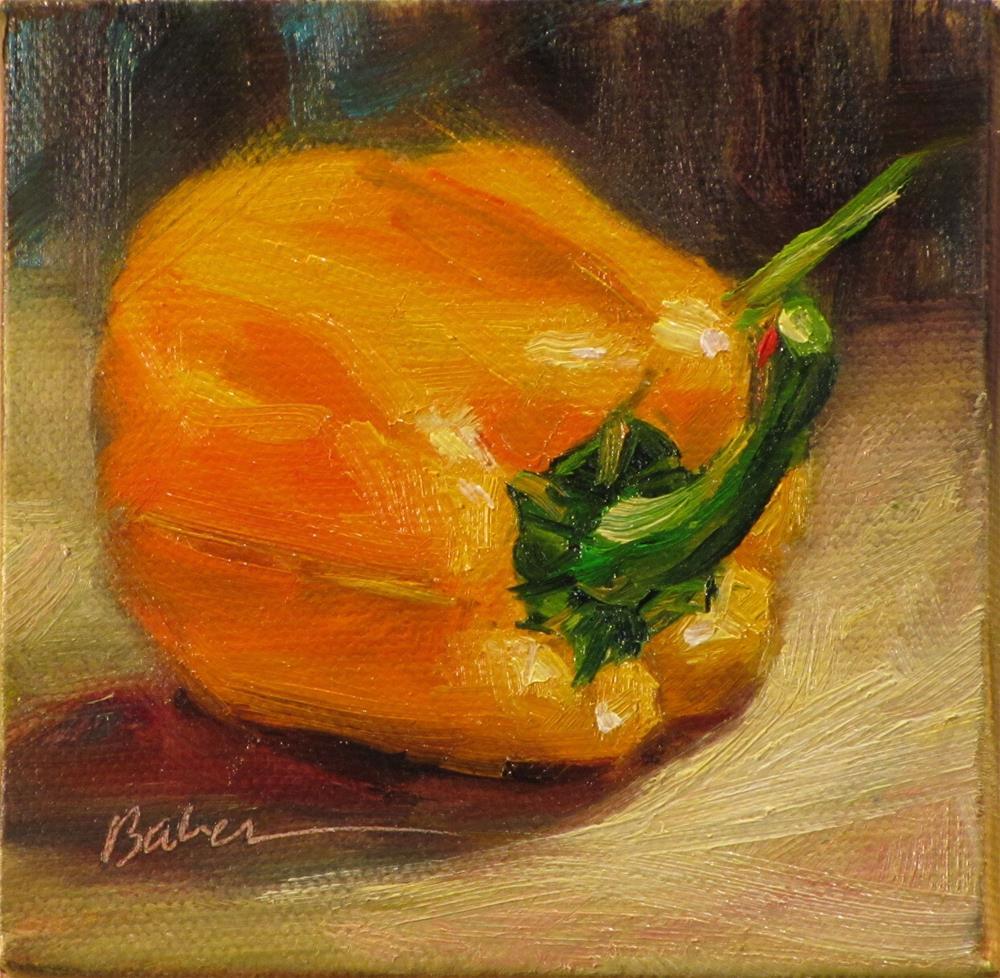 """""""Orange Pepper"""" original fine art by gabriele baber"""